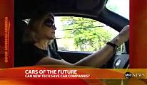 Jeanine Getz test drives a hydrogen fuel cell car
